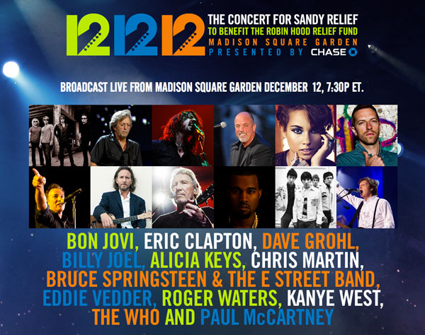 """12-12-12 The Concert for Sandy Relief"""" DVD"""