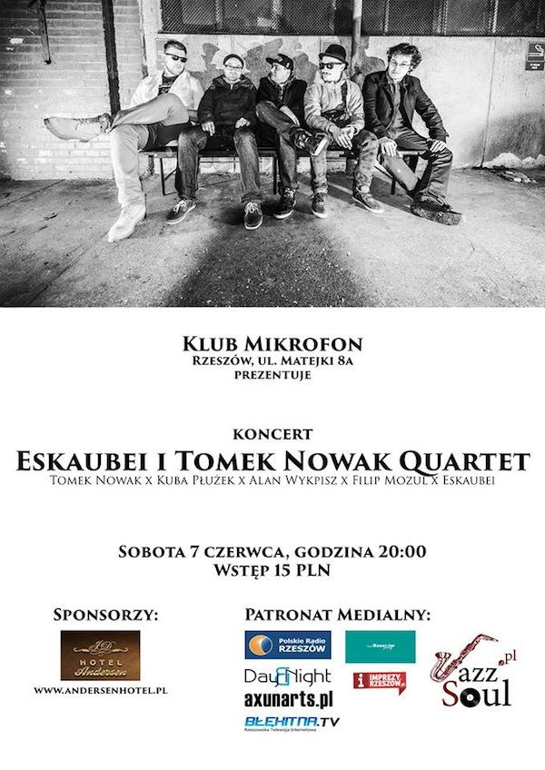 Eskaubei i Tomek Nowak Quartet - plakat Rzeszów