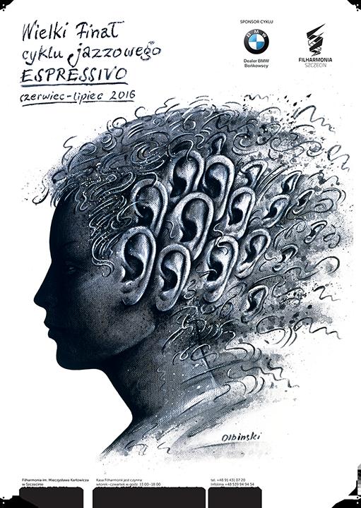 Espressivo - plakat Rafała Olbińskiego