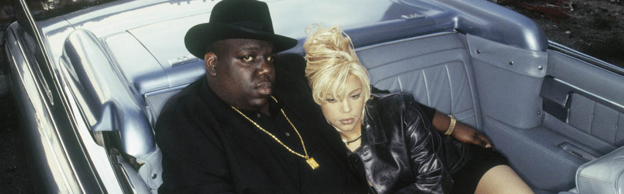 ca. 1995 --- The Notorious B.I.G. and Faith Evans --- Image by © Eric Johnson/Corbis Outline